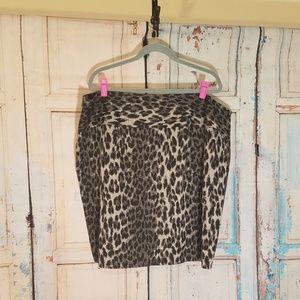 Lane Bryant Black Leopard Print Skirt size 26